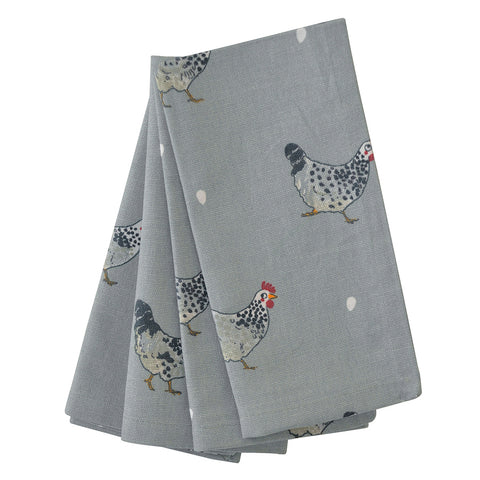 Sophie Allport Chicken Linen Napkins (Set of 4)