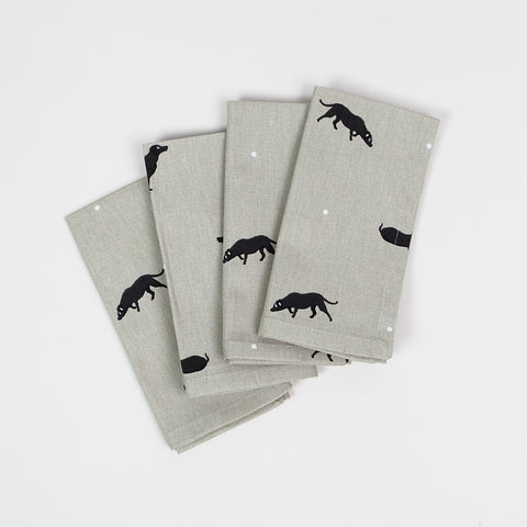 Sophie Allport Black Labrador Napkins (set of 4)