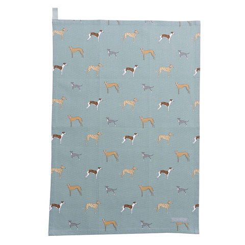 Sophie Allport Speedy Dogs Tea-Towel