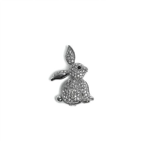 Sparkling Crystal Bunny Brooch from Eastar