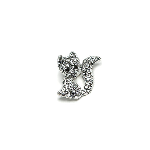 Sparkling Crystal Fox Brooch by Eastar