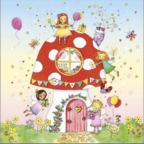 Fairy Toadstool Greeting Card from Flamingo