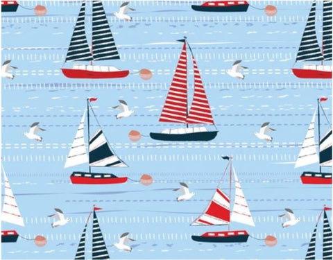 Sail the Seas Gift Wrap with Matching Tags