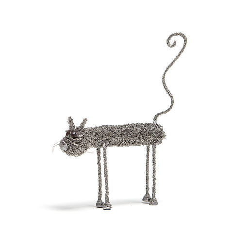Wire Cat Sculpture by Sarah Jane Brown