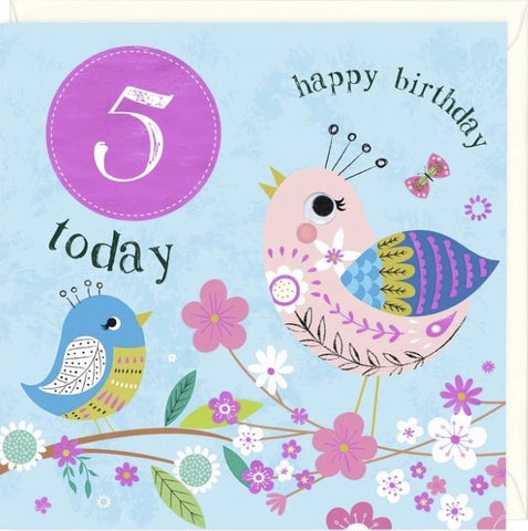 5 Today Happy Birthday Greetings Card