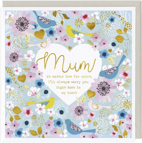 Mum No Matter How Far Apart......Greetings Card