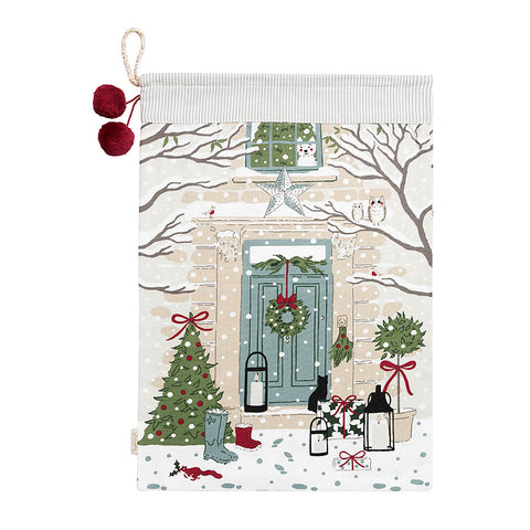 Sophie Allport Holly and Berry Scene Christmas Sack
