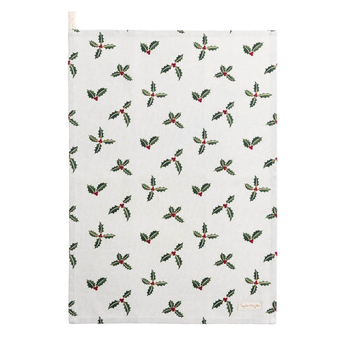 Sophie Allport Holly and Berry Tea Towel
