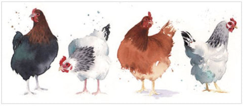 Chickens Greeting Card from Flamingo