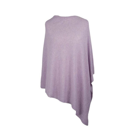Italian Wool/Cashmere Mix Lavender Poncho from Cadenza