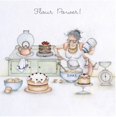 Flour Power Greeting Card from Berni Parker