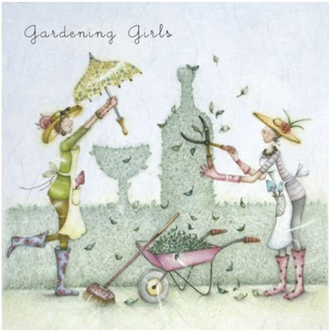 Gardening Girls Greeting Card from Berni Parker