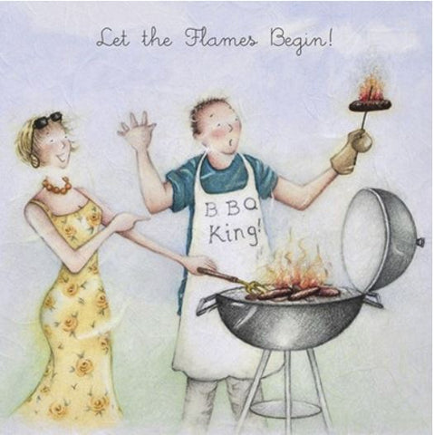 Let The Flames Begin Greeting Card from Berni Parker
