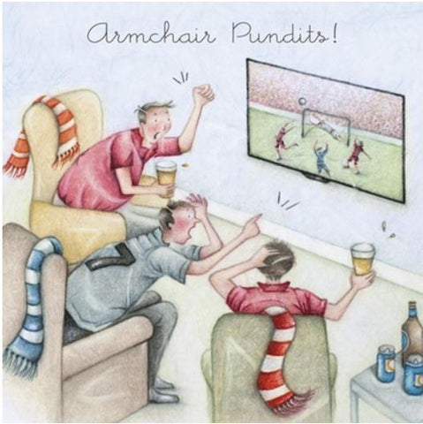 Armchair Pundits Greeting Card from Berni Parker