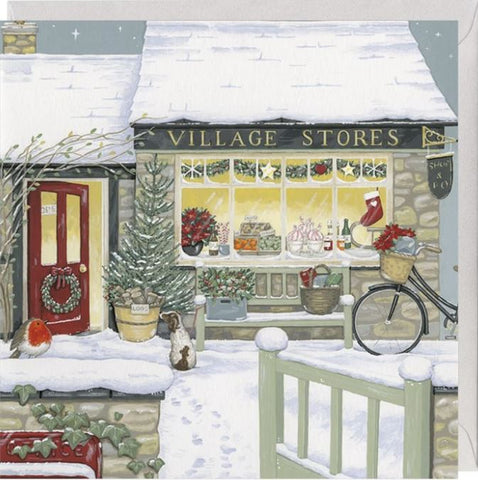 The Village Stores Christmas Card