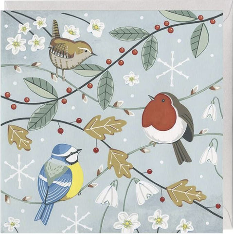 Festive Birds Christmas Card