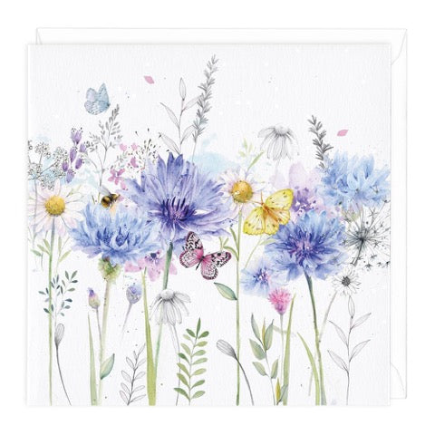 Cornflowers Greeting Card