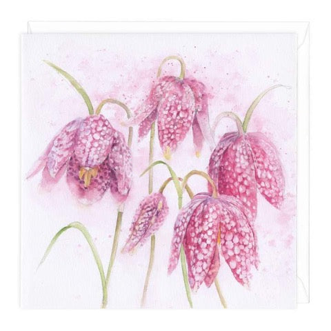 Snake's head Fritillary Greeting Card