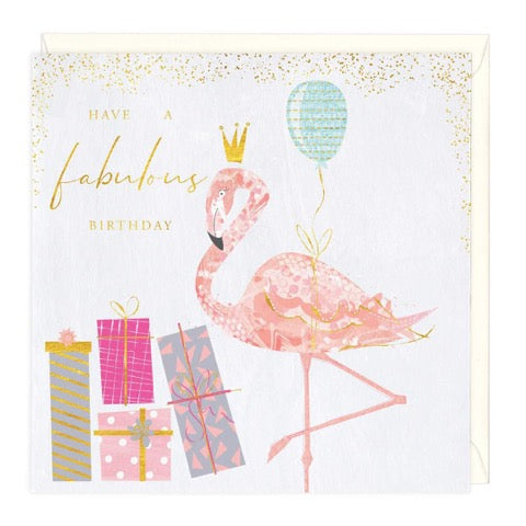 Flamingo Have a Fabulous Birthday Greeting Card