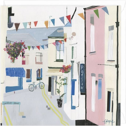 Padstow Bike Greeting Card