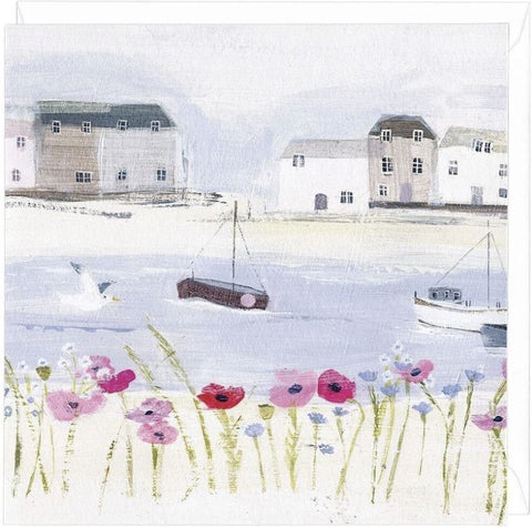 Harbour Poppies Greeting Card