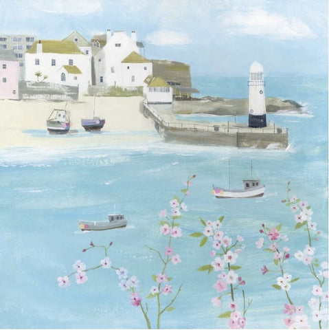 Flowers above St. Ives Greeting Card