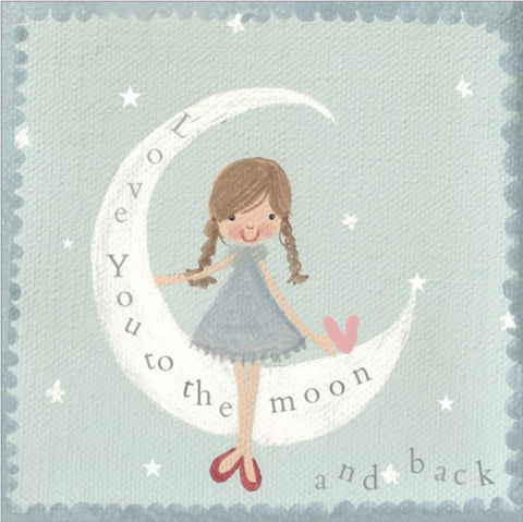 Love You to the Moon and Back Greeting Card from Flamingo