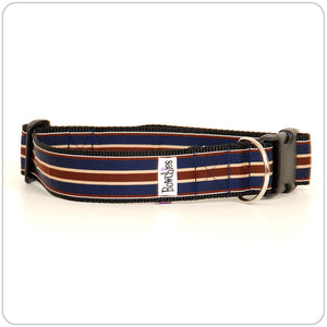 Prep Stripe - Maroon on Blue
