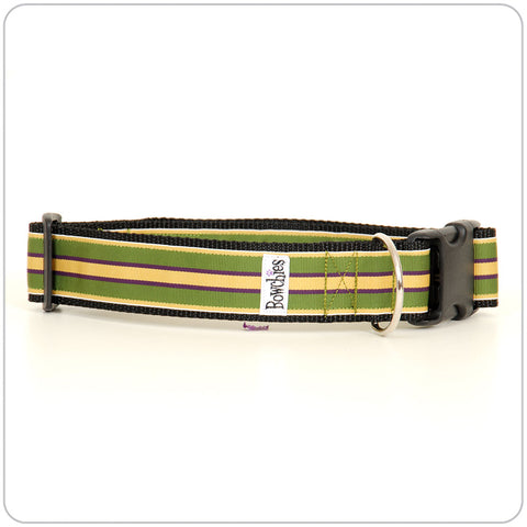 Prep Stripe- Yellow on Green