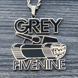 Black 'G59 Tank' Necklace