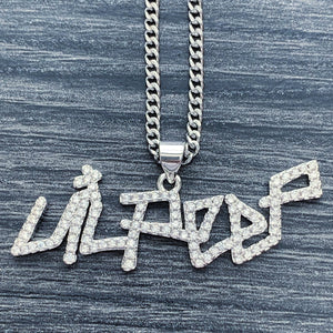 Iced Out 'Lil Peep' Small Necklace