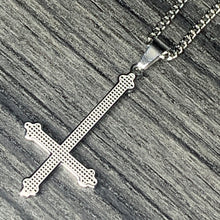 Load image into Gallery viewer, Steel 'Cross' Necklace & Earring Combo