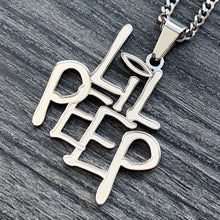 Load image into Gallery viewer, Etched 'LIL PEEP' Necklace