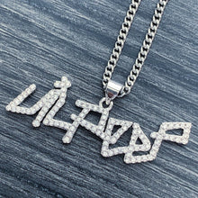Load image into Gallery viewer, Iced Out 'Lil Peep' Small Necklace
