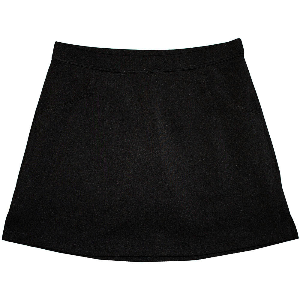 "Solid Black ""Longer"" Skort"