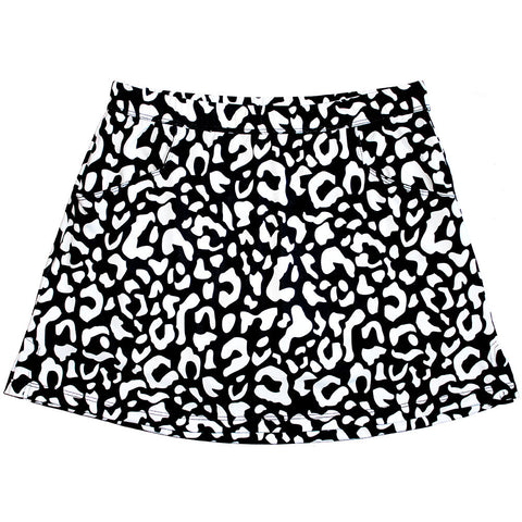 "B&W Leopard ""Longer Skort"""