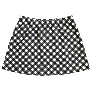 B&W Gingham Skirt (no shorts)