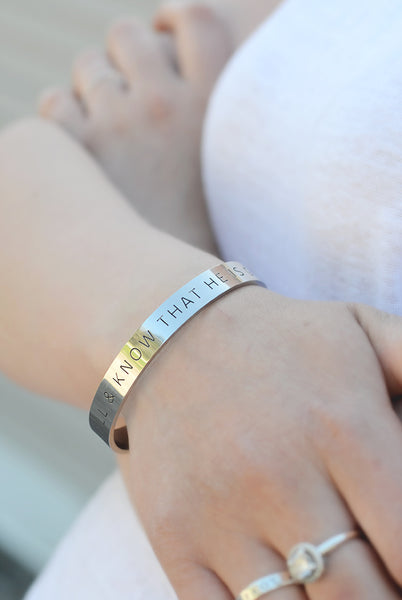 EDELSTAHL ARMBAND: BE STILL & KNOW THAT HE IS GOD
