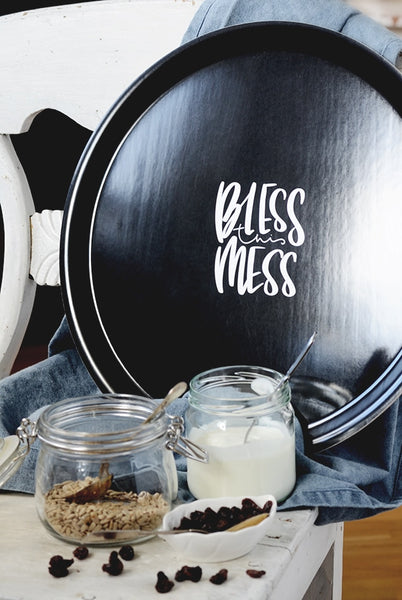 GROßES RUNDES TABLETT: BLESS THIS MESS