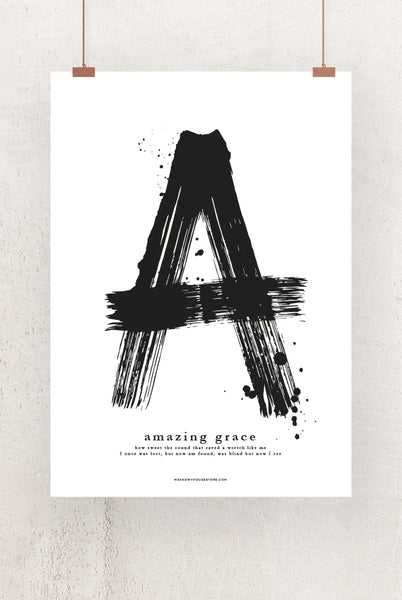 50×70-Grosses Poster: A - AMAZING GRACE -WEISS