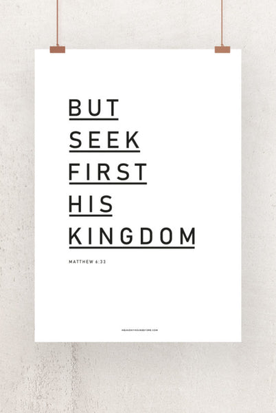 50×70-Grosses Poster: BUT SEEK FIRST HIS KINGDOM