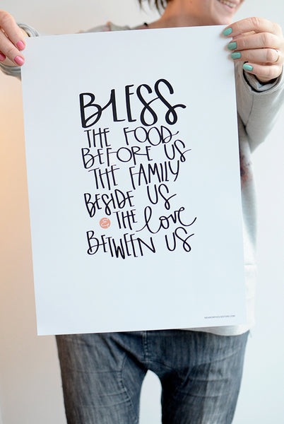 POSTER: BLESS THE FOOD BEFORE US