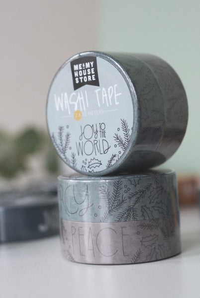 Weihnachts - Washi Tape im DOPPELPACK: JOY TO THE WORLD
