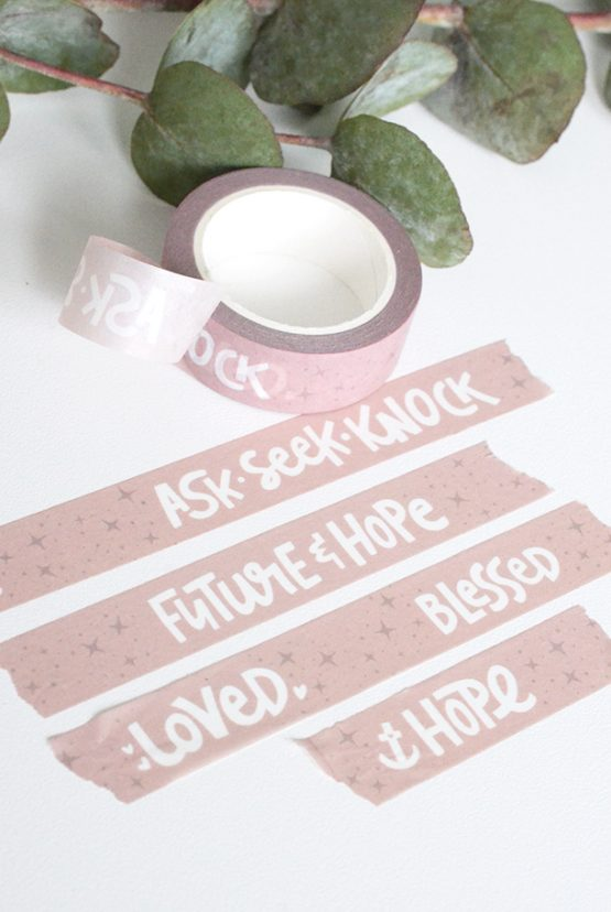 Washi Tape: FUTURE AND HOPE