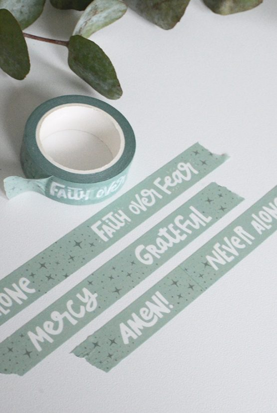 Weihnachts - Washi Tape: NEVER ALONE