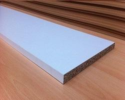 CHIPBOARD WHITE VENEERED PANEL 2400X525MM - Beattys of Loughrea , www.beattys.ie