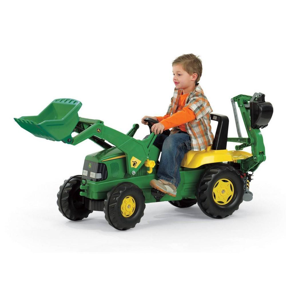 ROLLY JOHN DEERE TRAILER WITH LOAD and BACKHOE - Beattys of Loughrea , www.beattys.ie