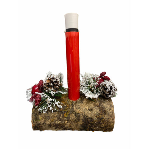 Traditional Christmas Candle Log Light - Mains Operated. Buy at Beattys Loughrea Galway. Www.beattys.ie