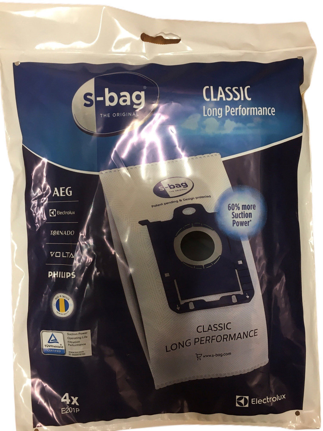 Electrolux AEG Philips E201p 4x Bags Microfibre S-Bag - Beattys of Loughrea , www.beattys.ie