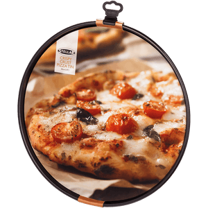 Stellar Bakeware, 35cm Crispy Crust Pizza Tin, Non-Stick. Dishwasher safe.  At Beattys Loughrea Galway. Www.beattys.ie